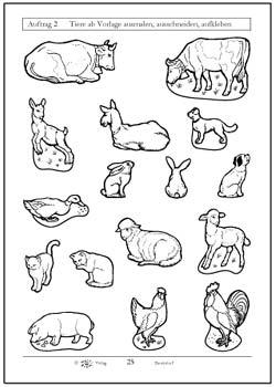 Tiere auf dem bauernhof kindergarten