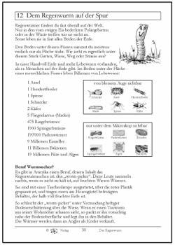 Arbeitsblatt Regenwurm Vorstellung
